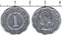 Изображение Монеты Белиз 1 цент 2007 Алюминий XF Елизавета II.
