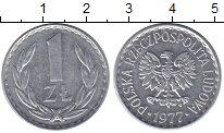 Изображение Монеты Польша 1 злотый 1977 Алюминий XF