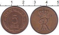 Изображение Монеты Дания 5 эре 1967 Медь XF