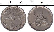 Изображение Монеты Египет 10 пиастров 1984 Медно-никель XF