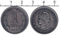 Изображение Монеты Аргентина 1 песо 1957 Медно-никель XF