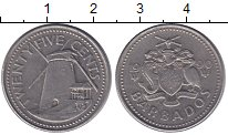 Изображение Монеты Барбадос 25 центов 1990 Медно-никель XF