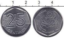 Изображение Монеты Бразилия 25 сентаво 1995 Медно-никель XF