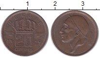 Изображение Монеты Бельгия 20 сентим 1954 Медь XF