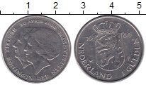 Изображение Монеты Нидерланды 1 гульден 1980 Медно-никель XF