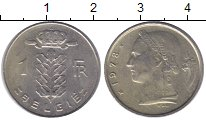 Изображение Монеты Бельгия 1 франк 1978 Медно-никель XF