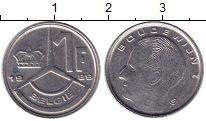 Изображение Монеты Бельгия 1 франк 1989 Медно-никель XF