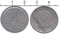 Изображение Монеты Бразилия 1 крузейро 1961 Алюминий XF