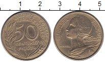 Изображение Монеты Франция 50 сантимов 1962 Латунь VF