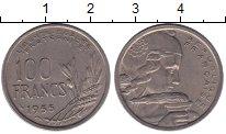 Изображение Монеты Франция 100 франков 1955 Медно-никель VF колосья
