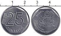 Изображение Монеты Бразилия 25 сентаво 1995 Медно-никель UNC