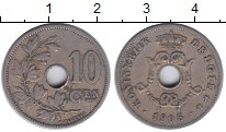 Изображение Монеты Бельгия 10 сантим 1905 Медно-никель VF