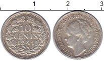 Изображение Монеты Нидерланды 10 центов 1941 Серебро XF