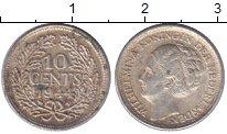 Изображение Монеты Нидерланды 10 центов 1944 Серебро VF
