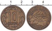 Изображение Монеты Камерун 10 франков 1967 Медь  Три антилопы.