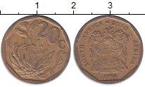 Изображение Монеты ЮАР 20 центов 1994 Медь XF