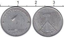 Изображение Монеты ГДР 1 пфенниг 1952 Алюминий