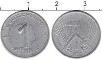 Изображение Монеты ГДР 1 пфенниг 1953 Алюминий XF