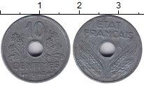 Изображение Монеты Франция 10 сантимов 1943 Алюминий XF