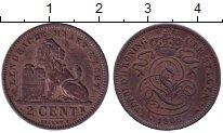 Изображение Монеты Бельгия 2 сантима 1905 Медь XF Леопольд II.