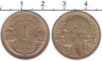 Изображение Монеты Франция 1 франк 1939 Латунь XF Рог  изобилия.