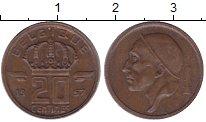 Изображение Монеты Бельгия 20 сентим 1957 Медь XF