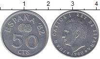 Изображение Монеты Испания 50 сентимо 1980 Медно-никель XF