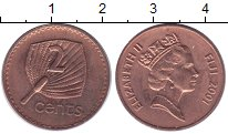 Изображение Монеты Фиджи 2 цента 1985 Медь XF