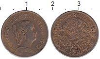 Изображение Монеты Мексика 5 сентаво 1972 Латунь XF