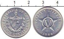 Изображение Монеты Куба 5 сентаво 1968 Алюминий XF Звезда.