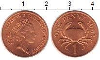 Изображение Монеты Гернси 1 пенни 1985 Медь UNC-