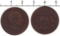 Изображение Монеты Испания 10 сентим 1879 Медь VF Альфонсо XII