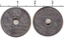Изображение Монеты Франция 10 сантимов 1943 Цинк VF