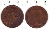 Изображение Монеты Франция 5 сантим 1917 Медь VF Республика защищает