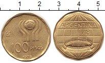 Изображение Монеты Аргентина 100 песо 1978 Латунь XF