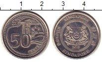 Изображение Монеты Сингапур 50 центов 2013 Железо XF