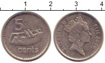 Изображение Монеты Фиджи 5 центов 2009 Медно-никель XF