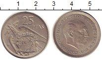Изображение Монеты Испания 25 песет 1958 Медно-никель XF