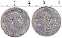 Изображение Монеты Испания 50 сентимо 1966 Алюминий VF