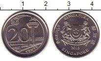 Изображение Монеты Сингапур 20 центов 2013 Медно-никель XF