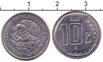 Изображение Монеты Мексика 10 сентаво 2001 Железо XF
