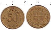 Изображение Монеты Исландия Исландия 1969 Латунь VF