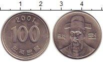 Изображение Монеты Южная Корея 100 вон 2001 Медно-никель XF