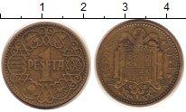 Изображение Монеты Испания 1 песета 1944 Латунь XF