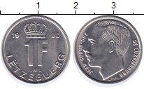 Изображение Монеты Люксембург 1 франк 1990 Медно-никель XF