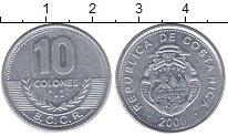 Изображение Монеты Коста-Рика 10 колон 2008 Алюминий VF номинал - герб