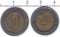 Изображение Монеты Мексика 1 песо 2001 Биметалл VF