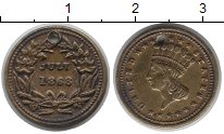 Изображение Монеты США жетон 1868