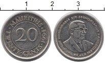 Изображение Монеты Маврикий 20 центов 1994 Железо VF