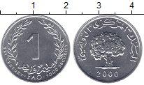 Изображение Монеты Тунис 1 миллим 2000 Алюминий XF